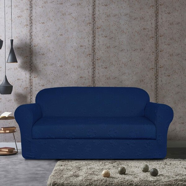 Flower Jacquard Sofa Slipcover by Winston Porter