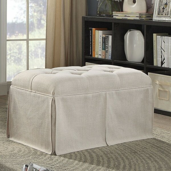 Beatty Tufted Fabric Upholstered Storage Bench by Alcott Hill Alcott Hill