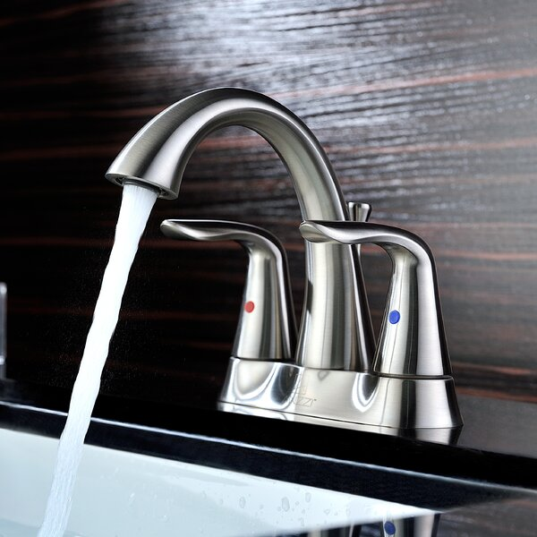 Cadenza Centerset Faucet Bathroom Faucet with Drain Assembly by ANZZI