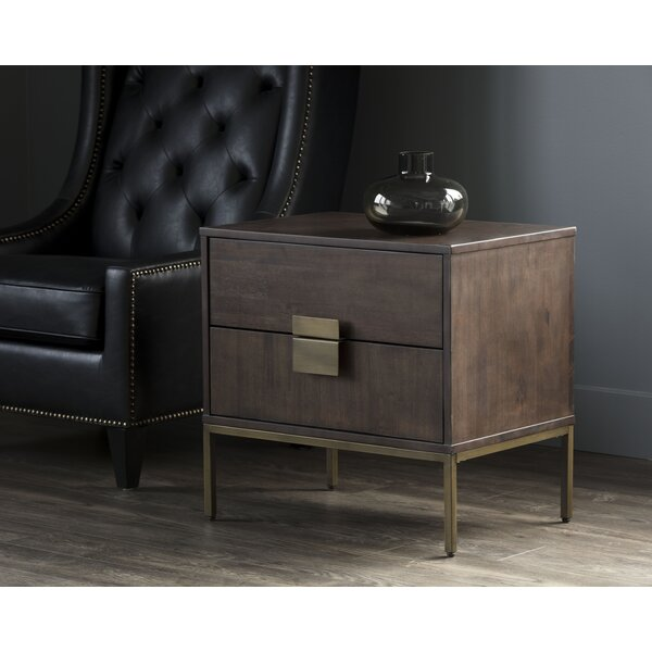 Cipriano 2 Drawer Nightstand by Foundry Select