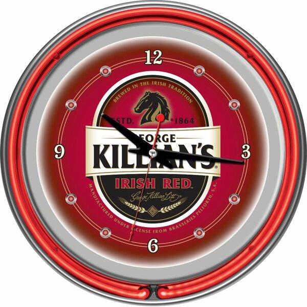 George Killian 14 Neon Wall Clock by Trademark Global