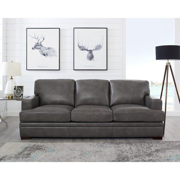 Eriksay Leather Sofa By Ebern Designs