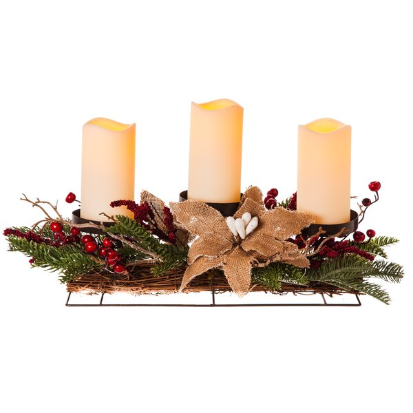 Holiday 3 Light Centerpiece by Cypress Home