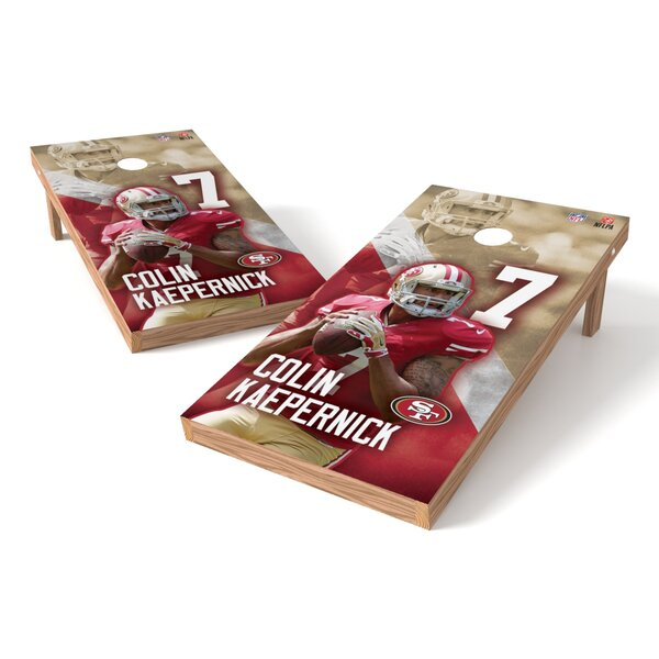 NFLPA SF 49ers Colin Kaepernick Cornhole Game Set by Tailgate Toss