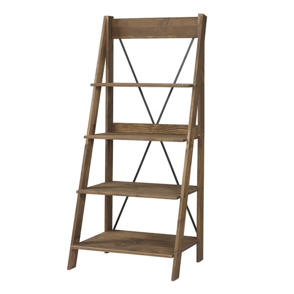 Rowley Solid Wood Ladder Bookcase by Gracie Oaks