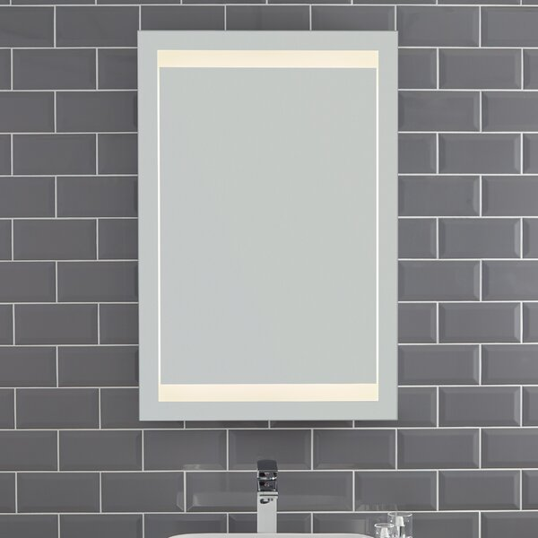 Hamid Modern & Contemporary Frameless Lighted Bathroom Mirror