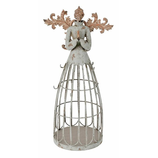 Antiqued Garden Angel with Hook Christmas Decoration by Attraction Design Home