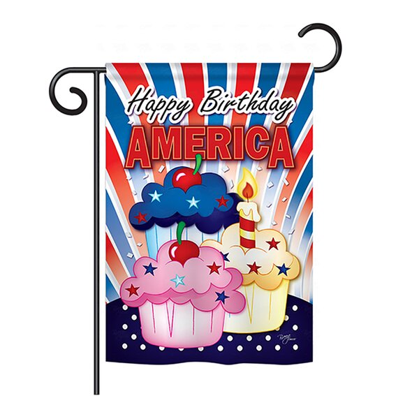 American Cupcake 2-Sided Vertical Flag by Breeze Decor