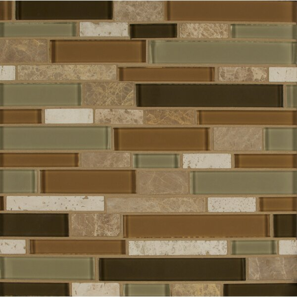 Tiffany Random Sized Glass MosaicTile in Brown by Bedrosians