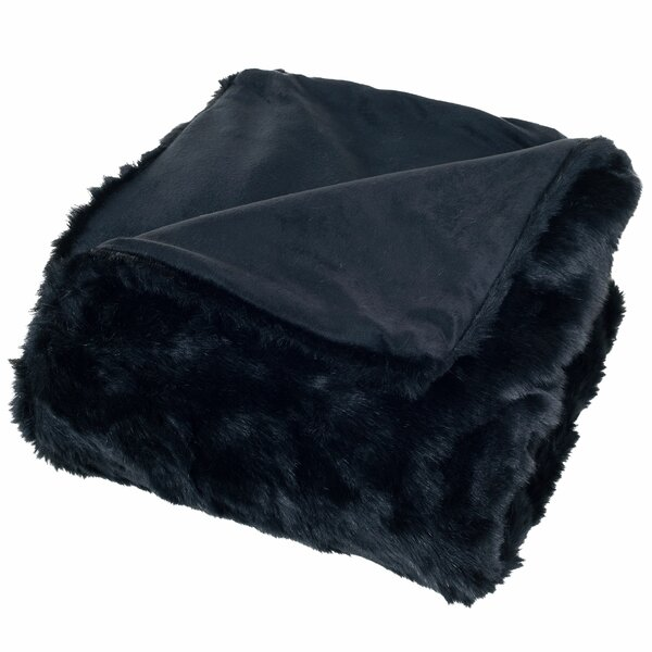 Hanah Faux Fur Throw Blanket by Willa Arlo Interiors
