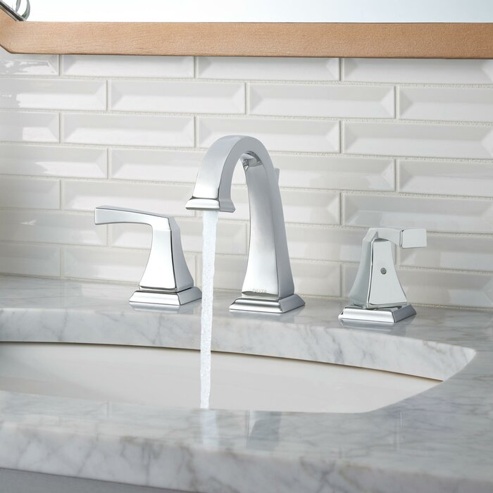 Dryden Widespread Bathroom Faucet With Drain Embly And Diamond Seal Technology