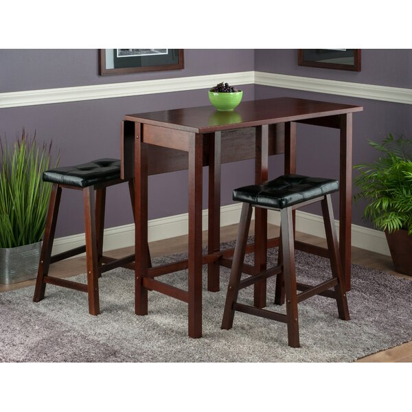 Bettencourt 3 Piece Counter Height Dining Set by Red Barrel Studio