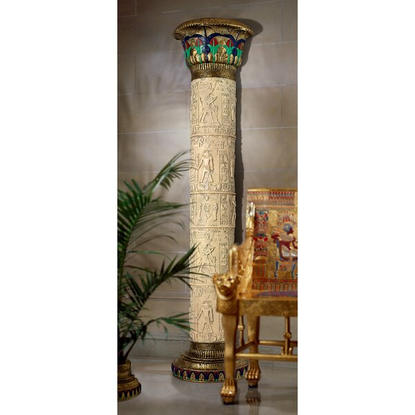 The Giant Columns of Luxor Pedestal by Design Toscano