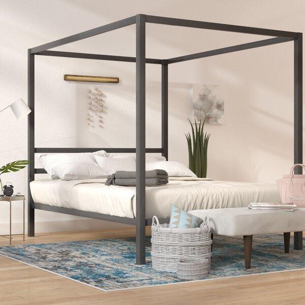 & Mercury Row Blanford Queen Canopy Bed u0026 Reviews | Wayfair