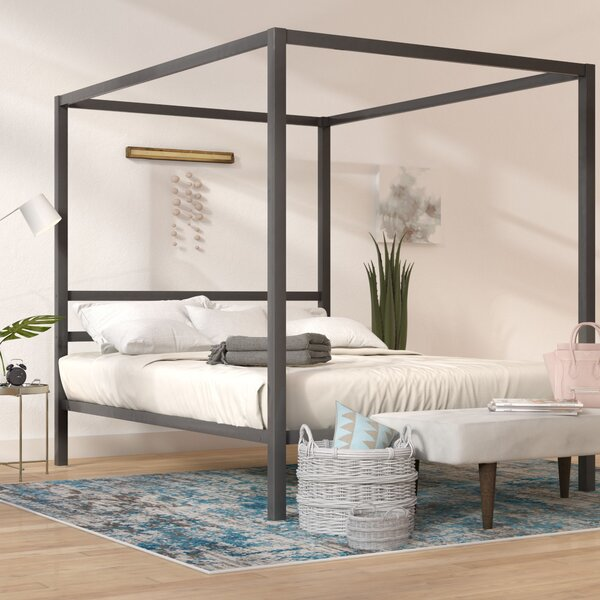 Mercury Row Kosinski Queen Canopy Bed U0026 Reviews | Wayfair