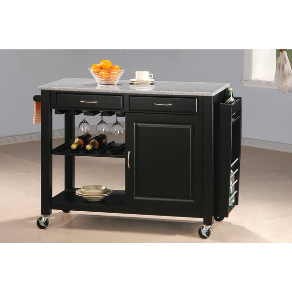 Cottonwood Kitchen Island with Granite Top by Wildon Home®