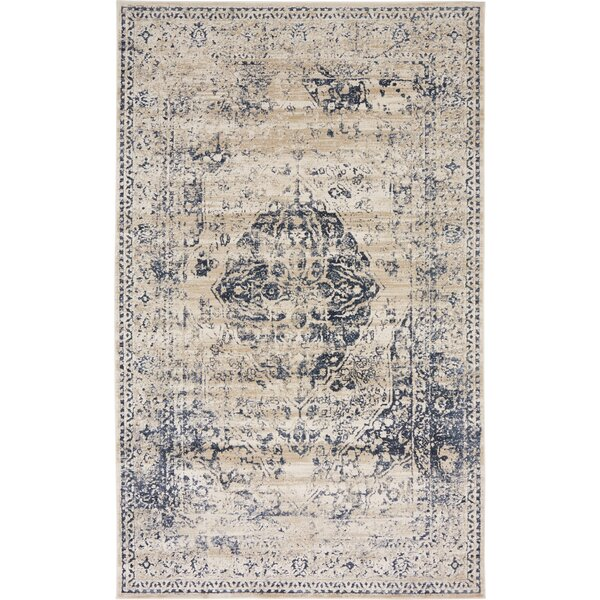 Abbeville Dark Blue/Cream Area Rug by Laurel Foundry Modern Farmhouse