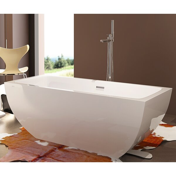 HelixBath Velia 59 x 29.5 Soaking Bathtub by Kardiel