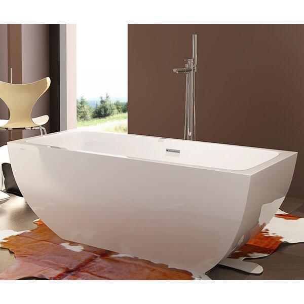 HelixBath Velia 59 x 29.5 Soaking Bathtub by Kardiel