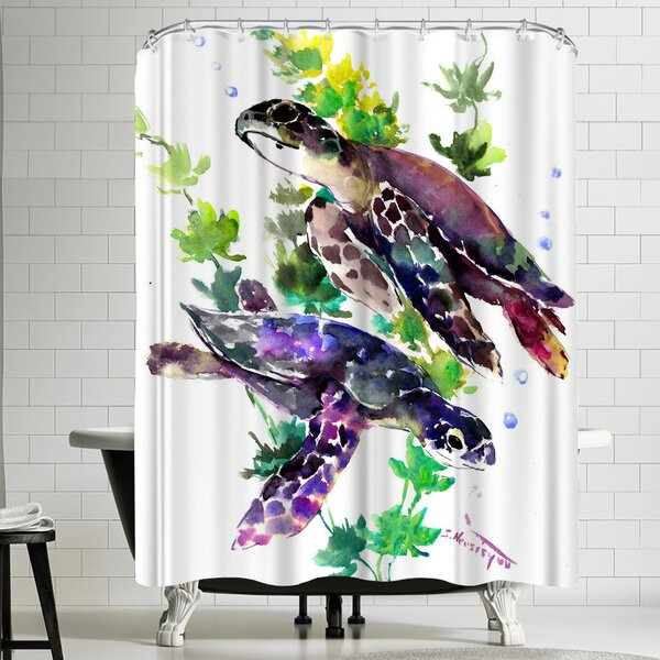 Suren Nersisyan Turtle Shower Curtain by East Urban Home