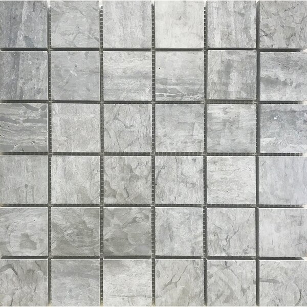 Wood Honed Square 12 x 12 Natural Stone Mosaic Tile in Gray by Seven Seas