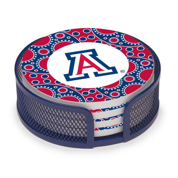 5 Piece University of Arizona Circles Collegiate Coaster Gift Set by Thirstystone