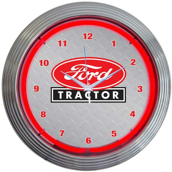 15 Ford Tractor Wall Clock by Neonetics