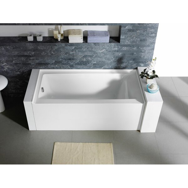 Delano 60 x 30 Freestanding Alcove Soaking Bathtub by Pacific Collection