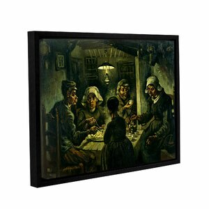 The Potato Eaters by Vincent Van Gogh Framed Painting Print on Wrapped Canvas by ArtWall