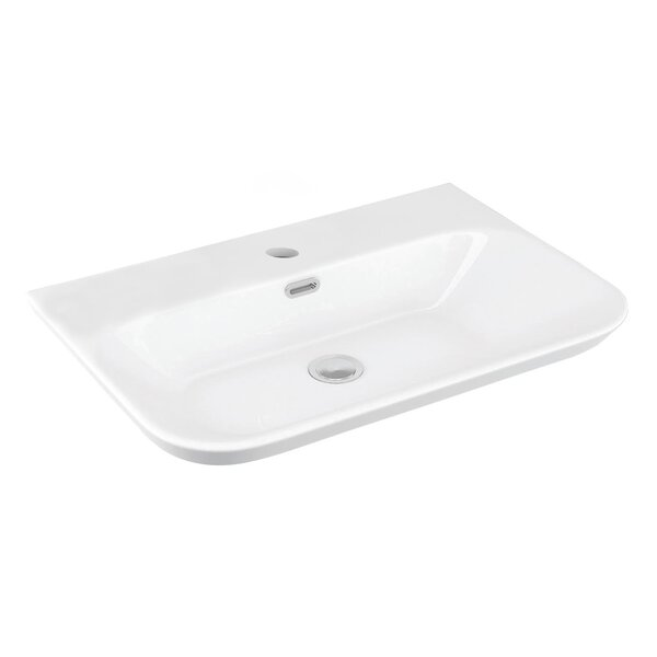 Edge Ceramic Ceramic Rectangular Vessel Bathroom Sink with Overflow by WS Bath Collections