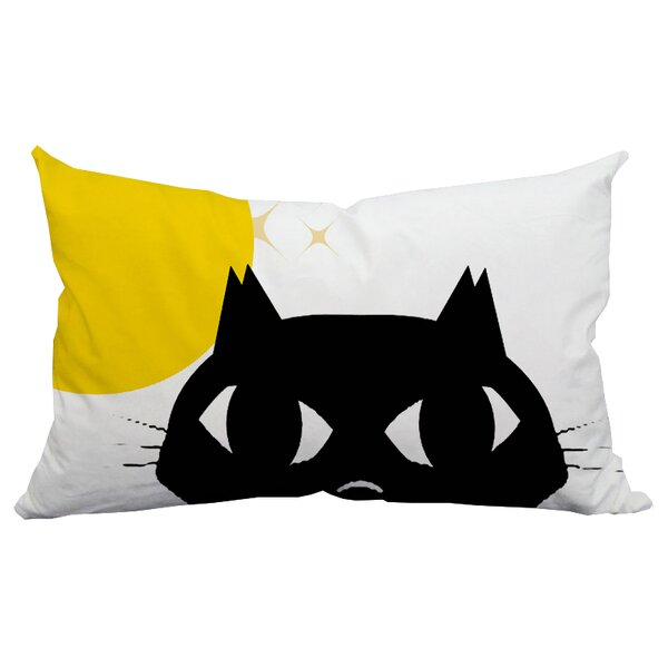Holiday Treasures Shy Cat Indoor/Outdoor Lumbar Pillow by Positively Home