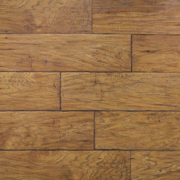 Dominion 6.13 x 54.34 x 12mm Hickory Laminate Flooring in Rustic Hickory by Quick-Step