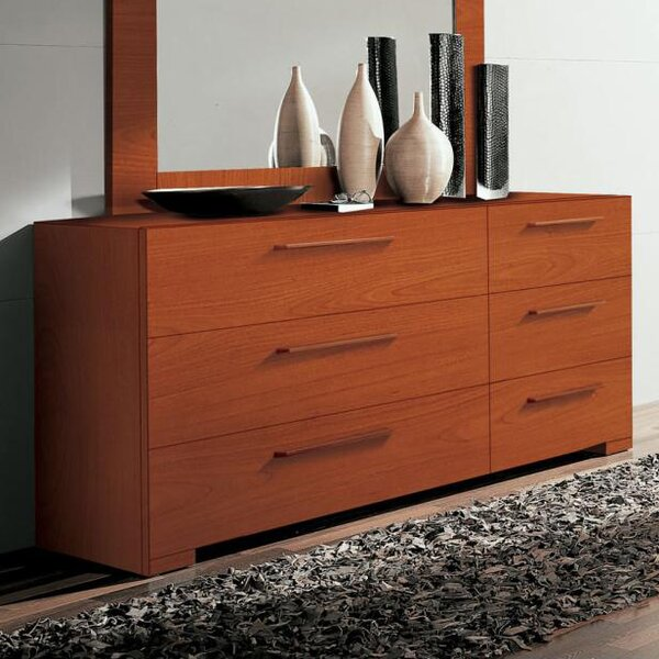 Wynd 6 Drawer Double Dresser by YumanMod
