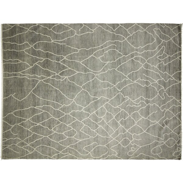 Dian Afifa Hand Knotted Wool Light Blue Area Rug by World Menagerie
