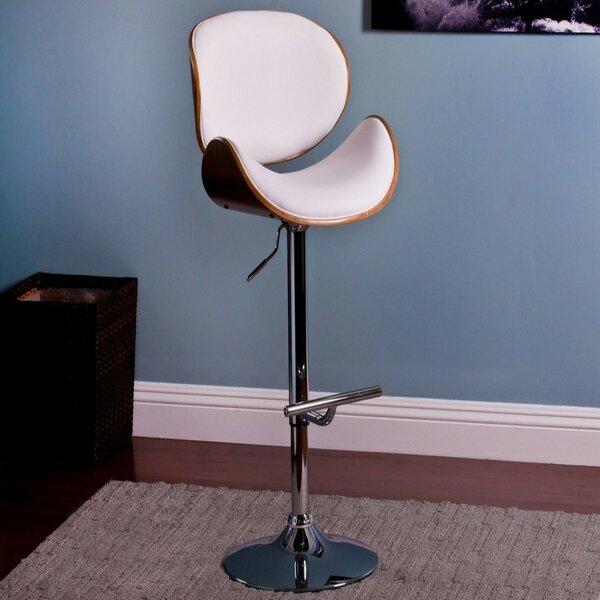 Standridge Modern Adjustable Height Swivel Bar Stool by Orren Ellis