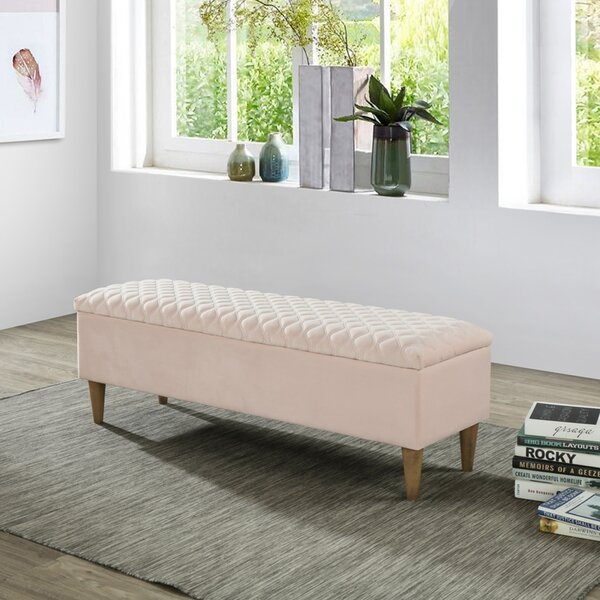 Derek Upholstered Storage Bench by Rosdorf Park