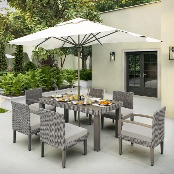 Sutton II 7 Piece Dining Set with Cushions by Ove Decors