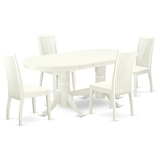 Drumrankin 5 Piece Extendable Solid Wood Dining Set By Winston Porter