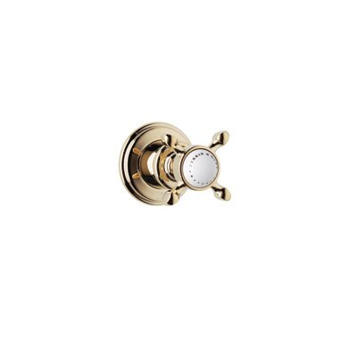 Volume Control Shower Faucet Trim Only with Cross Handle by Rohl