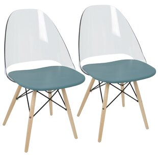 Review Beyer Solid Wood Dining Chair (Set of 2) by Mercury Row