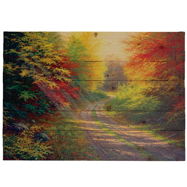 October Light by Charles White Photographic Print Plaque by Hadley House Co