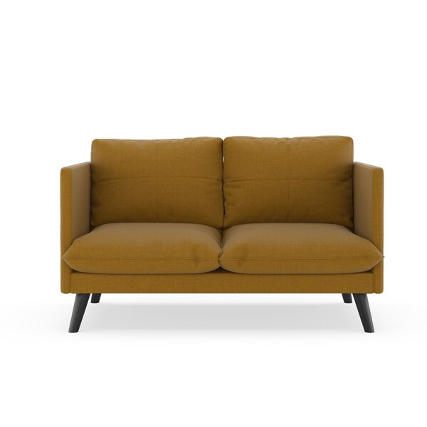 Rodgers Linen Weave Loveseat by Brayden Studio