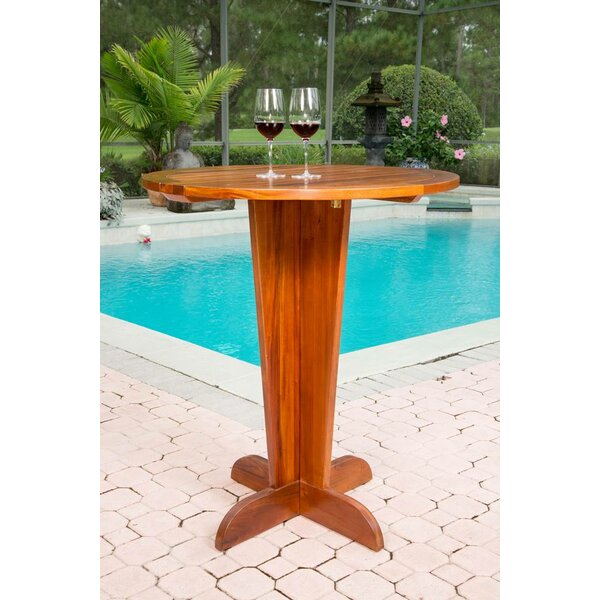 Serengeti Pub Table Solid Wood Dining Table By Bayou Breeze