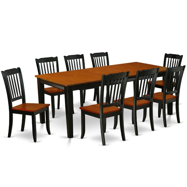 Kushner 9 Piece Extendable Solid Wood Dining Set by August Grove