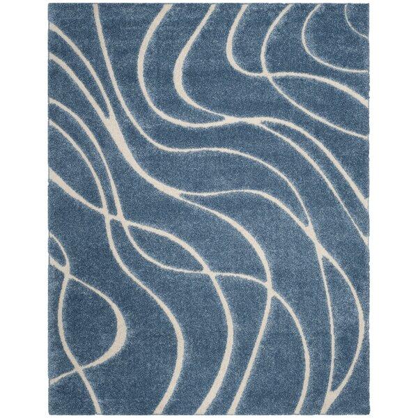 Enrique Blue/Cream Area Rug by Zipcode Design