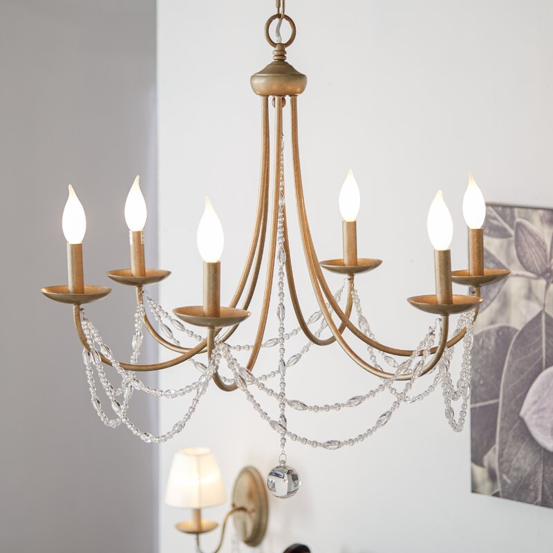 Three posts reynal 6 light candle style chandelier reviews wayfair reynal 6 light candle style chandelier audiocablefo