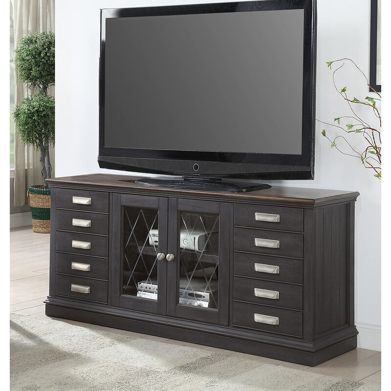 Alcott Hill Stevenson Solid Wood TV Stand for TVs up to 70"