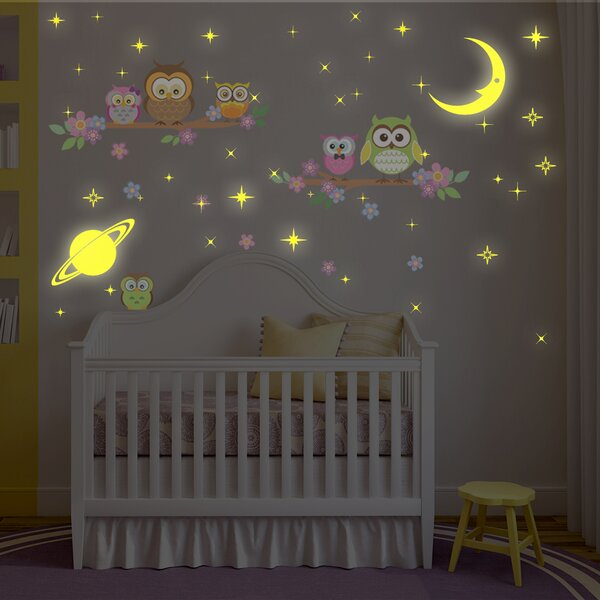 Bayswater Moon and Stars Owl Tree Wall Decal by Harriet Bee