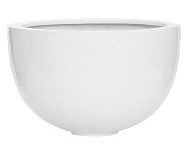 Round Decorative Fiberstone Pot Planter by Pottery Pots