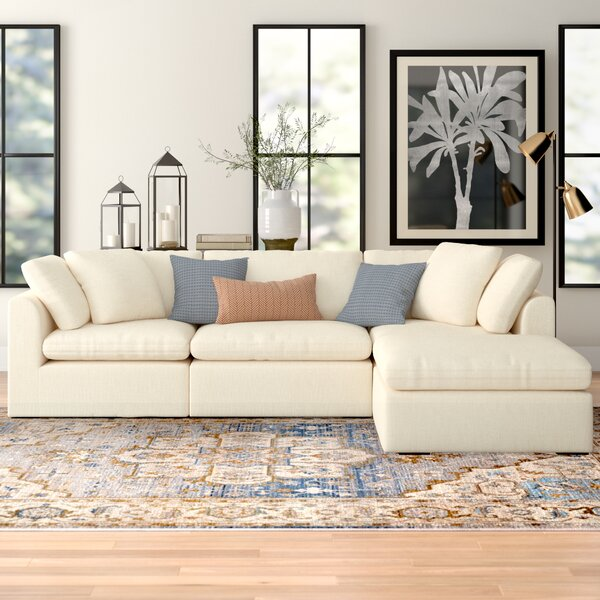 Grantville Reversible Modular Sectional with Ottoman by Three Posts Three Posts